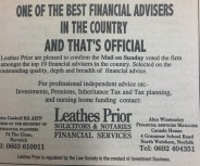 Voted one of the best financial advisers in the country